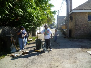 CANA Neighbors and Safer Foundation Volunteers Clean Vacant Lot, Alleys, and Corners