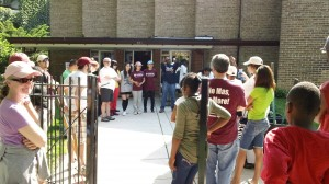 Award Wining Corner Planting Kicked off May 19th With support from Brickyard Home Depot, Christ the King High School, Loyola University and ABC Bank